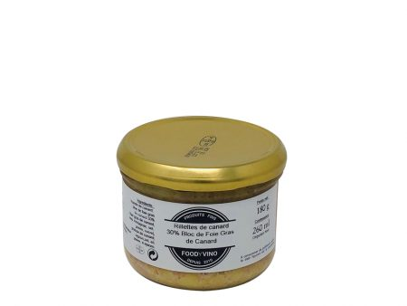 Rillettes de Canard 30% Foie Gras de canard 180g